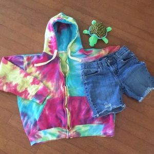 🌺Totally Cool TyeDyed Girls Hoodie